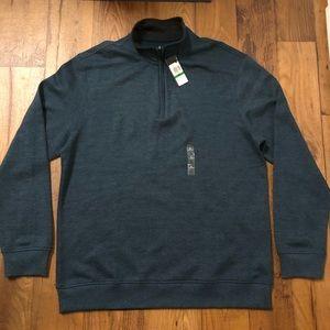 Van Heusen Mock Neck 1/4 Zip Long Sleeve Pullover